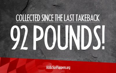 92 Pounds of Prescription Medications Have Been Collected Since the Last Takeback Day in April!